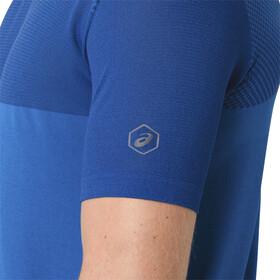 asics fuzeX Seamless Camiseta Running Hombre, directoire blue